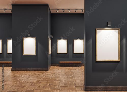 Valokuvatapetti empty gallerys in museum