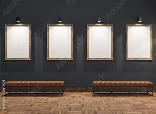 Obraz na plátně empty gallerys in museum