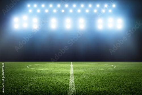 Cuadros en Lienzo Ball auf dem Fussballplatz