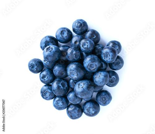 Slika na platnu Blueberries pile isolated on white background