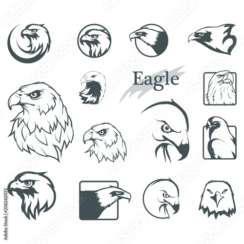 set of eagles Fototapeta