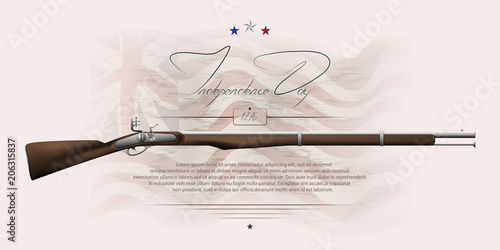Fototapeta The US independence day