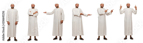 Photo Concept with arab man isolated on white