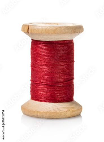 Fototapeta spool of red thread