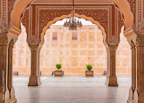 Fotografie, Obraz Jaipur city palace in Jaipur city, Rajasthan, India