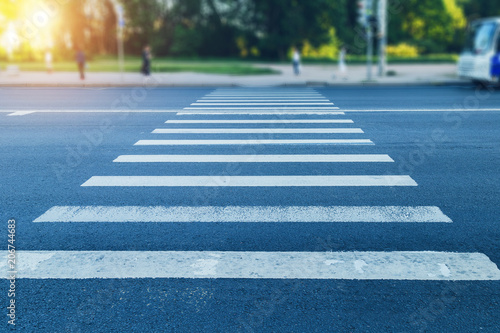 Fotografia pedestrian crossing in the afternoon