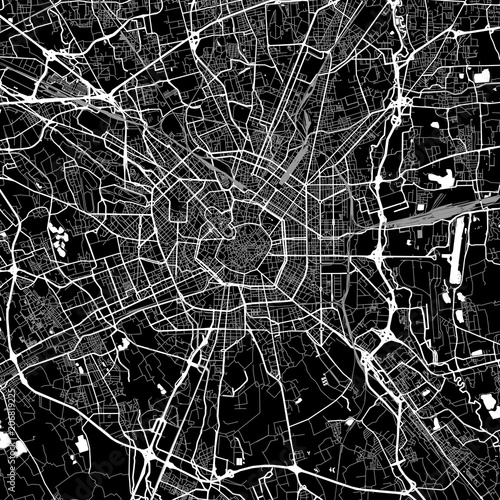 Photo Area map of Milan, Italy