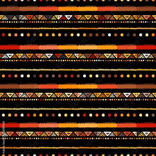Fototapeta Handmade colored stripes bright tribal seamless