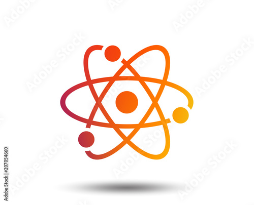 Atom sign icon Fototapeta