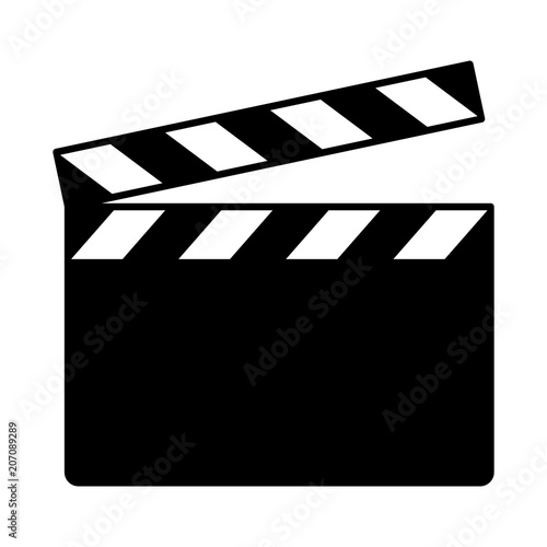 Cuadros en Lienzo Movie clapperboard or film clapboard flat vector icon for video apps and website