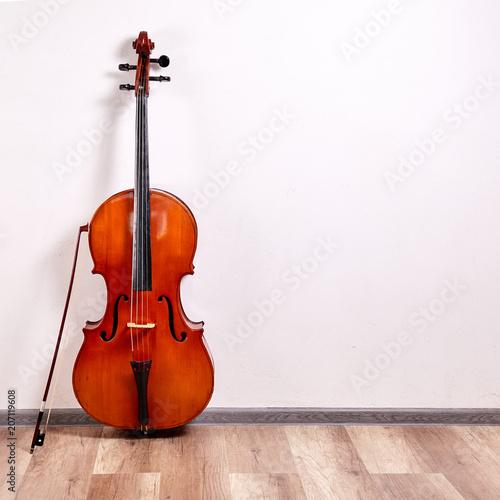 Leinwand Poster Old retro cello