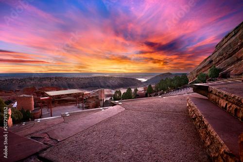 Photo Red Rocks Park at sunrise, near Denver Colorado