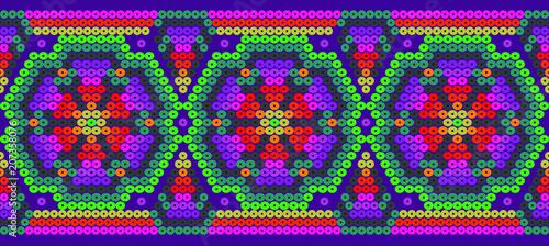 Fotografie, Obraz Floral vector - Mexican background