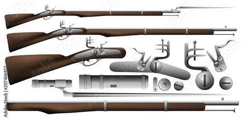 Canvas Print A musket with a bayonet
