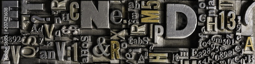 Metal Letterpress Types Fototapeta