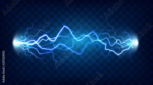 Fotografie, Tablou Electric discharge shocked effect for design