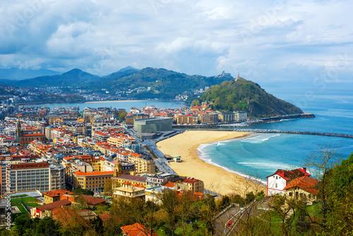 San Sebastian - Donostia city, Basque country, Spain Fotobehang