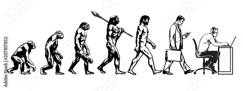 Foto Theory of evolution of man