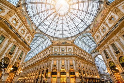 Fototapeta premium Galeria Vittorio Emanuele II w Mediolanie we Włoszech