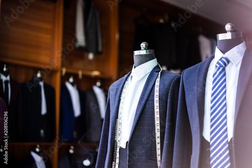 Valokuva luxury suit in shop