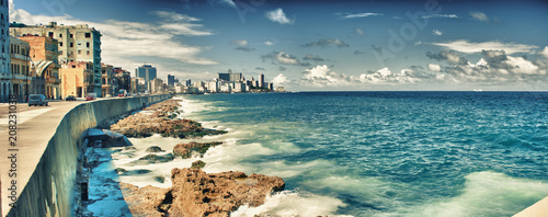 view of havana city and malecon