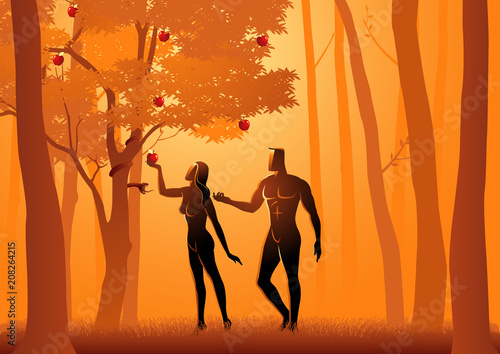 Valokuvatapetti Adam and Eve