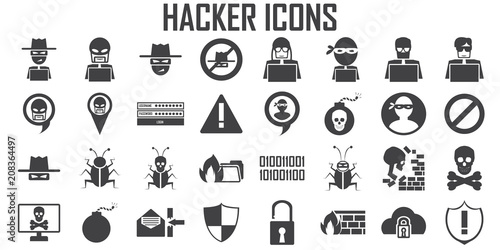 Slika na platnu hacker icon cyber spy vector.