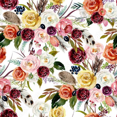 Plakat z pięknym wzorem florystycznym