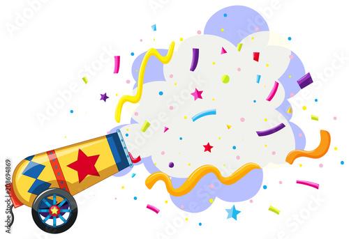 Fototapeta cannon exploding confetti background
