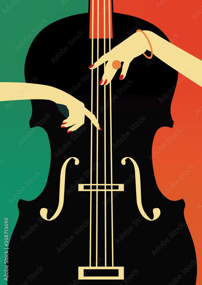 Festiwal muzyki jazzowej, tło plakatu. <span>plik: #208713690 | autor: Yevhen</span>