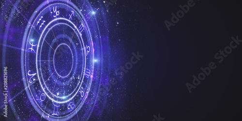 Slika na platnu Creative zodiac wheel backdrop