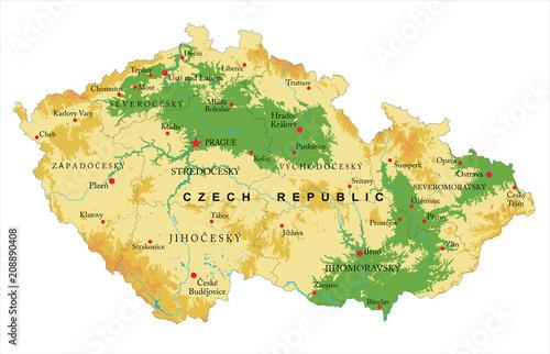 Wallpaper Mural Czech Republic relief map