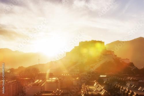 Murais de parede potala palace in tibet
