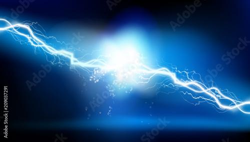 Fotografie, Tablou Heat lighting. Electrical energy. Vector illustration.