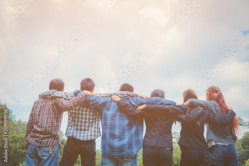 Business team hugging each other Fototapet