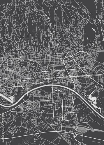 Wallpaper Mural Zagreb city plan, detailed vector map