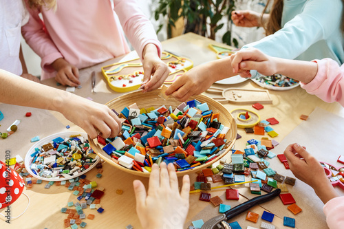 Obraz na plátně mosaic puzzle art for kids, children's creative game