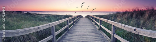 romantisches Strandpanorama