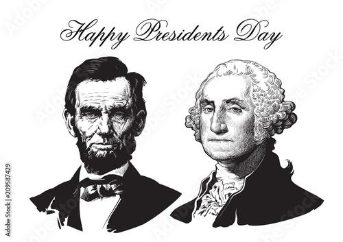 Canvas Print Abraham Lincoln and George Washington