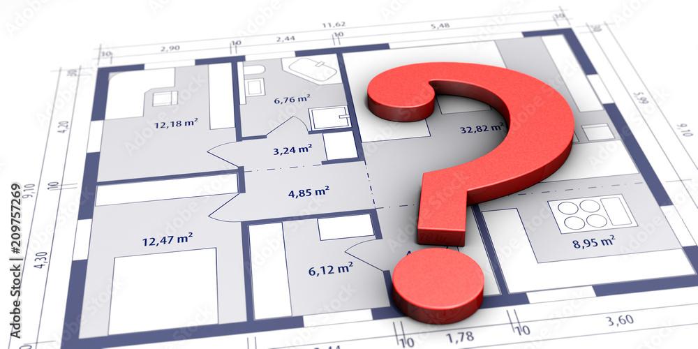 Fragen zum Hausbau - obrazy, fototapety, plakaty