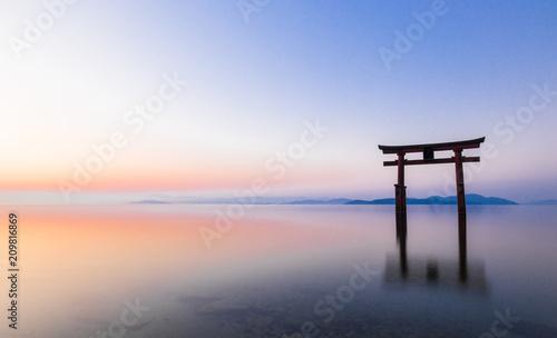Photo 琵琶湖 白髭神社