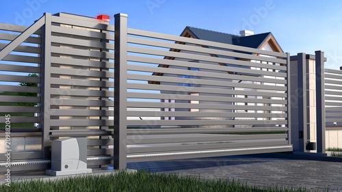 Fotografía Automatic Sliding Gate and house