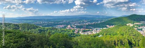 Stampa su Tela Aerial view of Karlovy Vary, Czech Republic