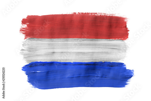 Wallpaper Mural Painted Dutch flag isolated