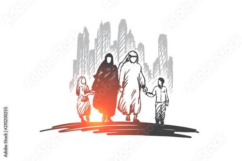 Fotografía Arab, family, muslim, culture concept