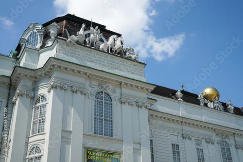 Valokuva Equestrian statue of Holy Roman Emperor Joseph II at Josefsplatz in front of the Hofburg Palace in Vienna, Austria