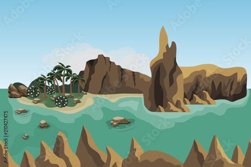 Wallpaper Mural Sea landscape scene background