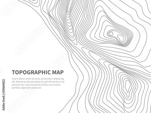Obraz na płótnie Geodesy contouring land