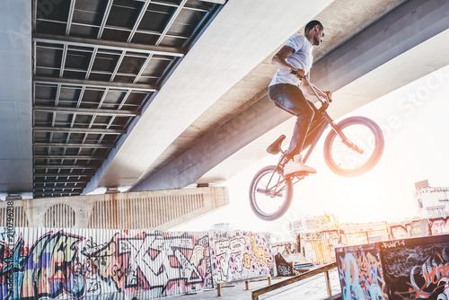 Fotografija Young man in skatepark