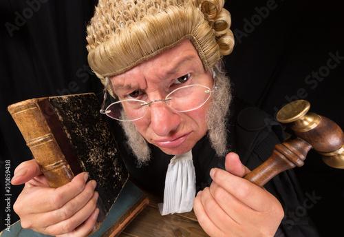 Grumpy judge Fototapeta